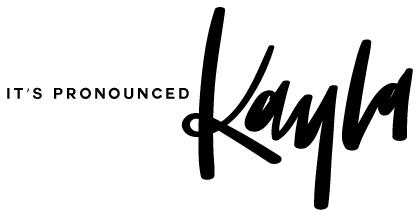 It's Pronounced Kayla logo